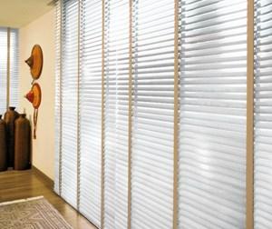 Persiana Criativa Horizontal de madeira sintética 50 mm